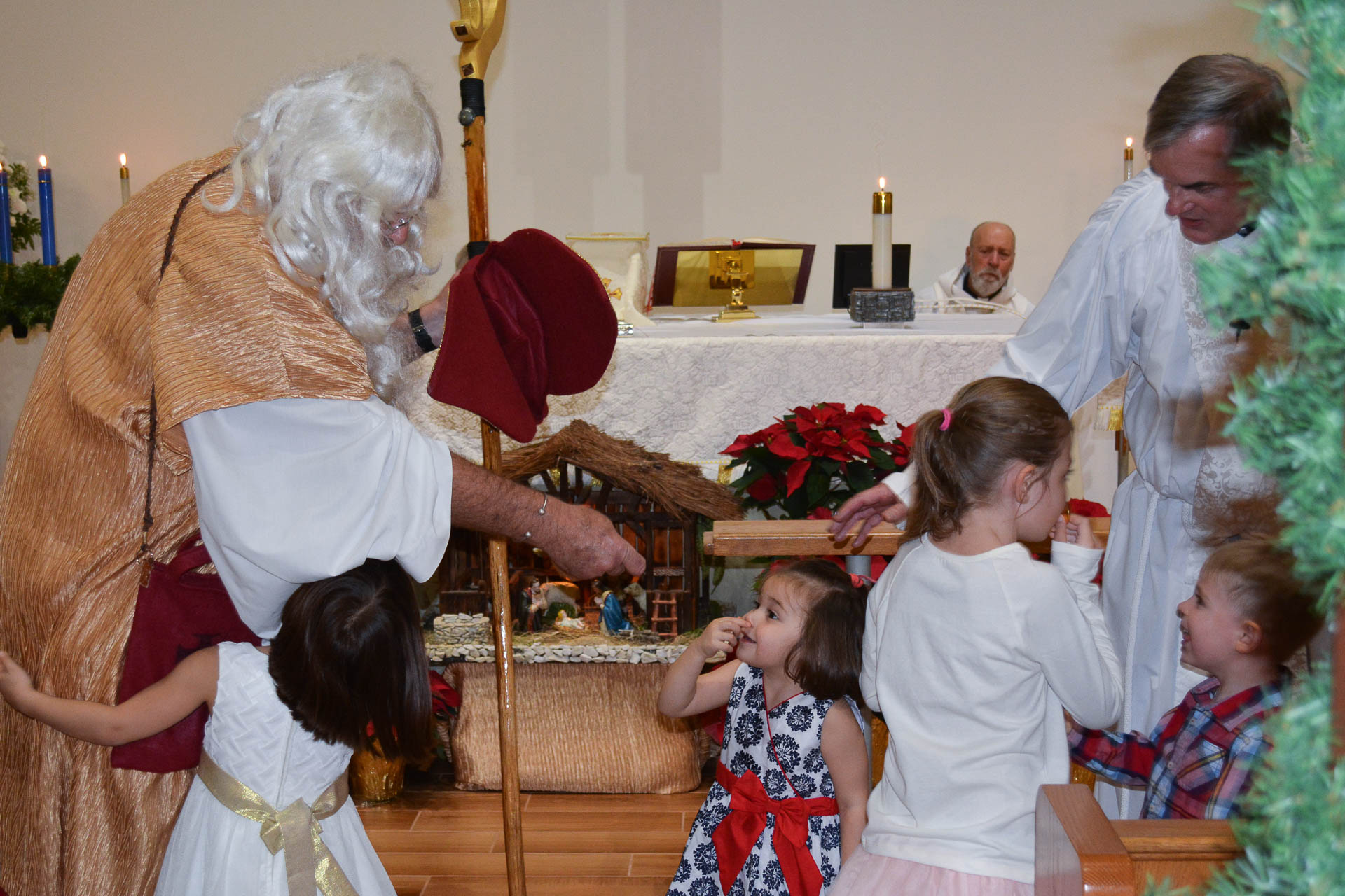 St Nick with children